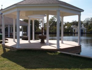 Beautiful gazebo on Bayou DeSiard in Monroe, Louisiana
